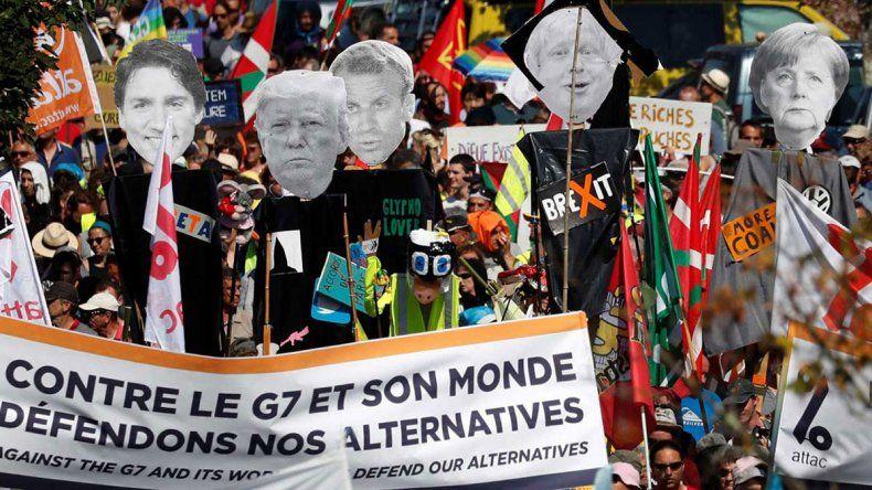 Hubo marcha contra la cumbre del G7