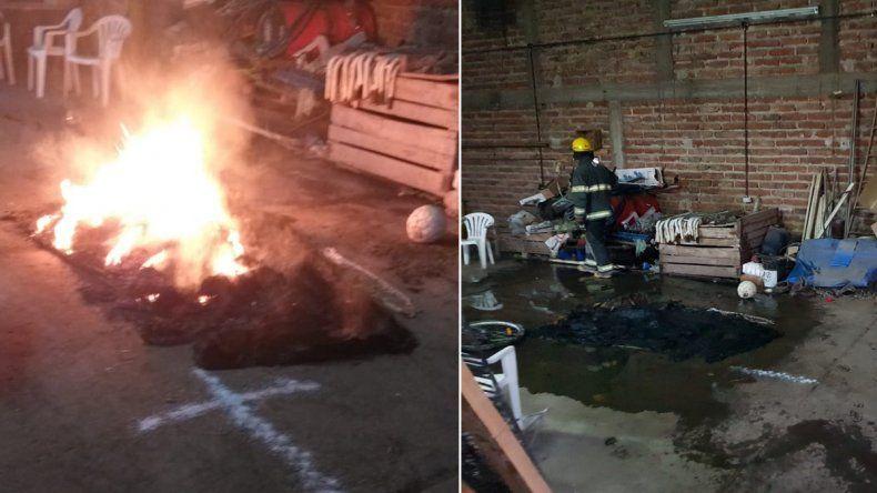 Crece el misterio en Centenario: ahora aparecieron cruces de sal y prendas quemadas