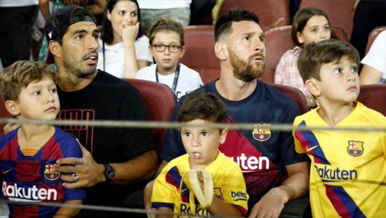 Mirá el show de Mateo Messi en el partido del Barça
