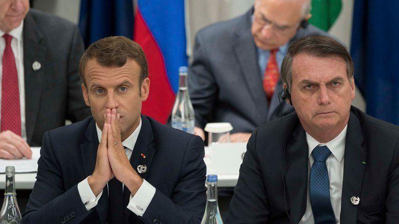 Bolsonaro se rió de la mujer de Macron y el francés le contestó