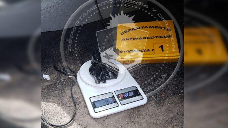 Les secuestraron más de 90 gramos de cocaína en un control de tránsito