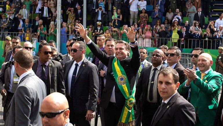 Bolsonaro, ovacionado en el desfile del Día de la Independencia