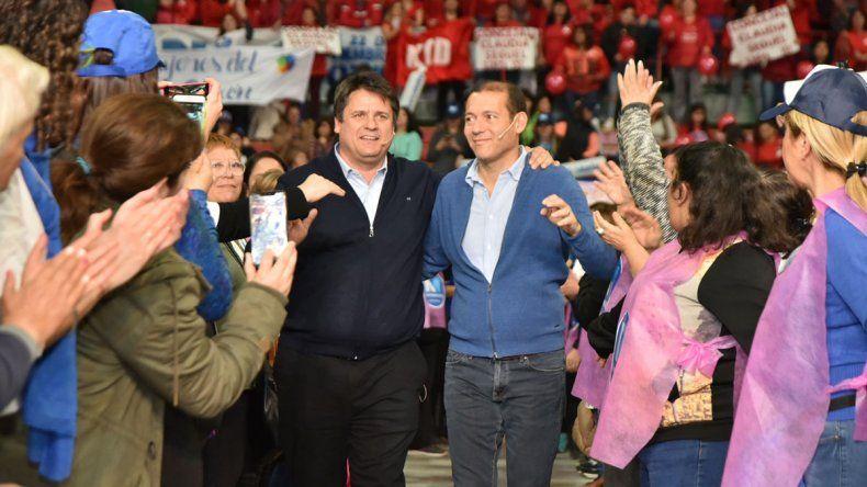 Gutiérrez y Gaido encabezaron un acto ante seis mil mujeres en el Ruca Che
