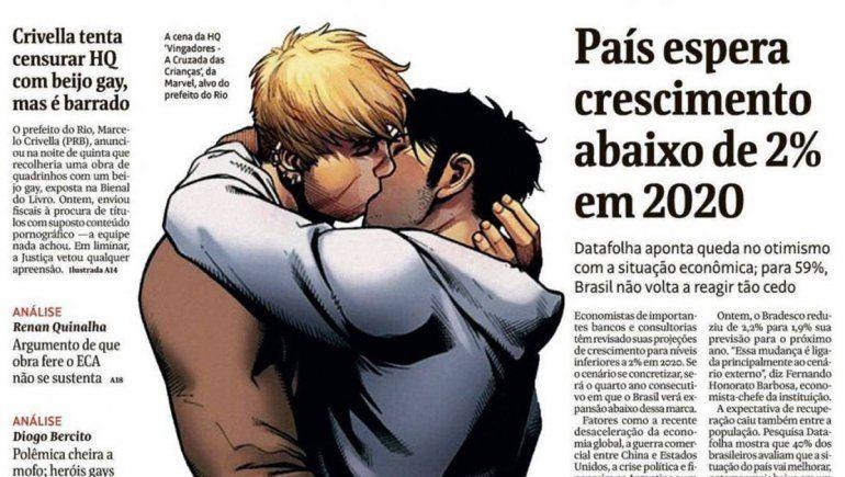 Polémica en Brasil: un diario publicó imagen censurada por el alcalde de Río
