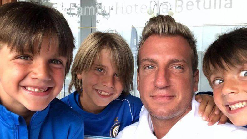Maxi López se reencontró con sus hijos