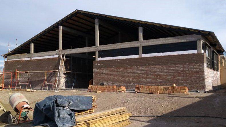 Avanza la obra de ampliación de una escuela de Picún