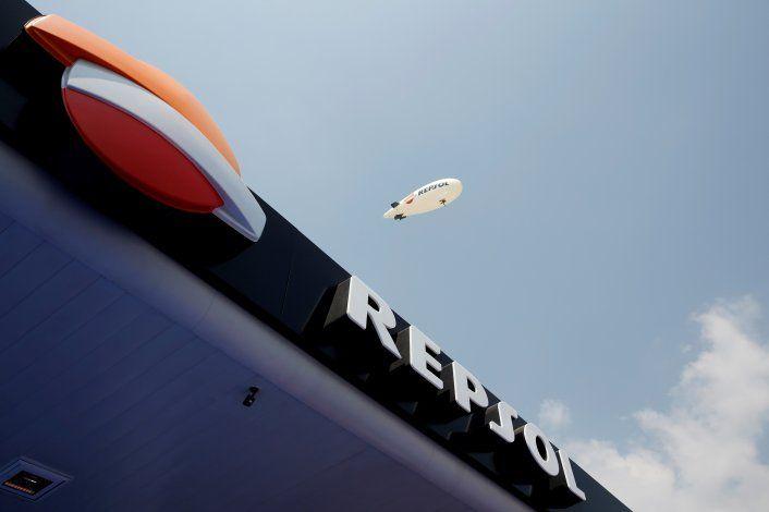 Foto de archivo. El logo de la compañía petrolera española