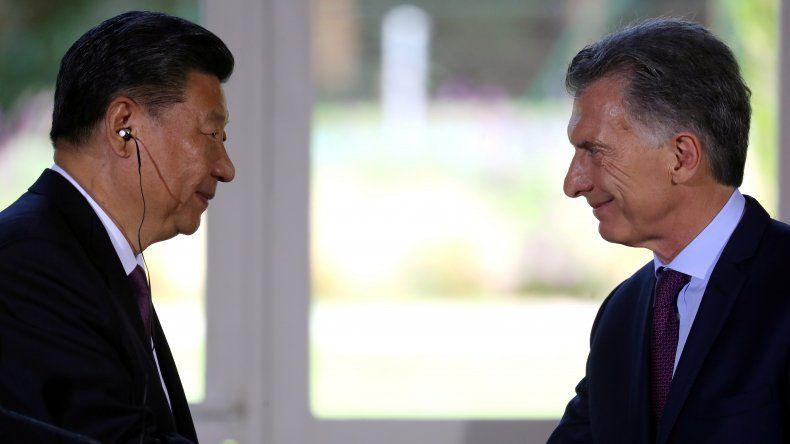 Foto de archivo. El presidente argentino Mauricio Macri y su contraparte chino Xi Jinping ofrecen una conferencia conjunta tras un encuentro en Buenos Aires
