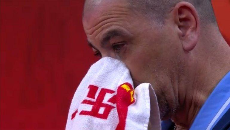 La emoción del DT argentino, Sergio Hernández, tras el golpe ante Serbia