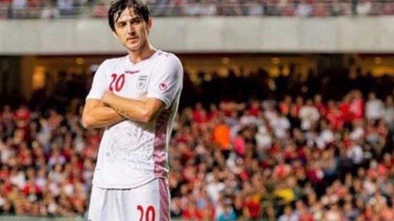 ¿A qué goleador argentino te hace acordar el festejo de este jugador iraní?
