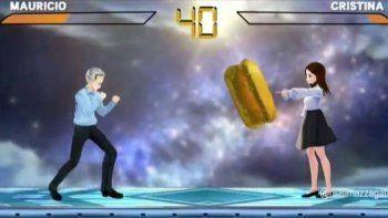 mauricio vs. cristina: el videojuego que causa furor en las redes sociales