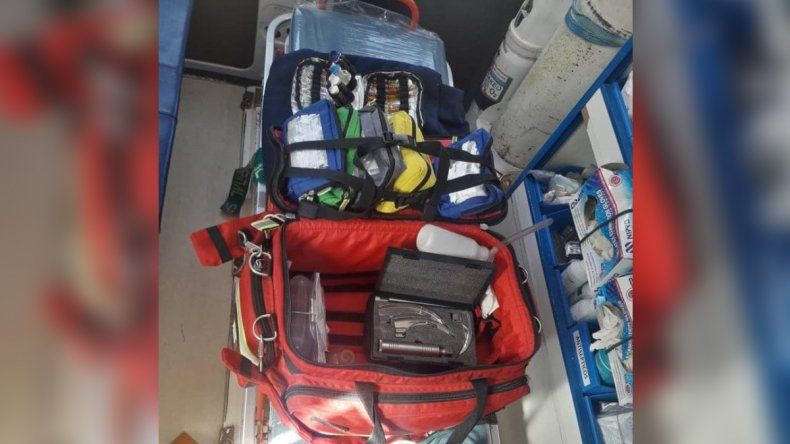 Ladrones desmantelaron una ambulancia del SIEN en la base del oeste