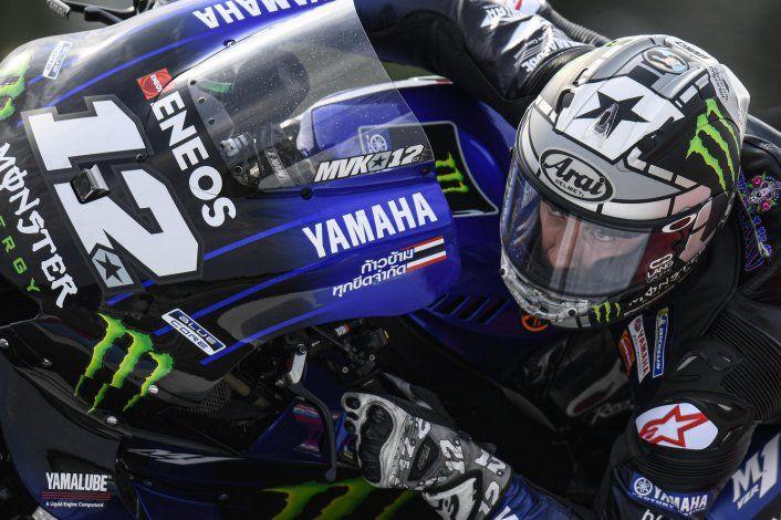 Maverick Viñales, al frente del viernes del Moto GP en San Marino