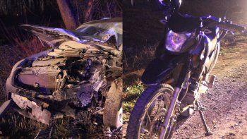 policia iba en moto y murio al ser embestido por camioneta