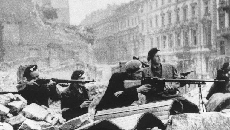 Gran parte de la población de Varsovia se levantó contra el régimen nazi.