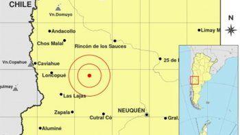 se registro un nuevo sismo en el centro de la provincia