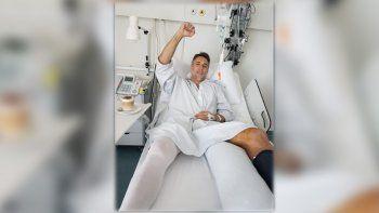 batistuta se opero con exito el tobillo izquierdo en suiza