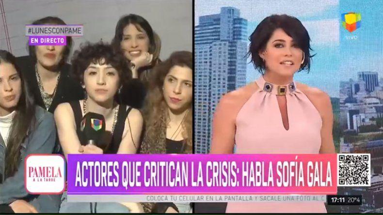Pamela David la pasó feo por un reclamo en vivo de Sofía Gala