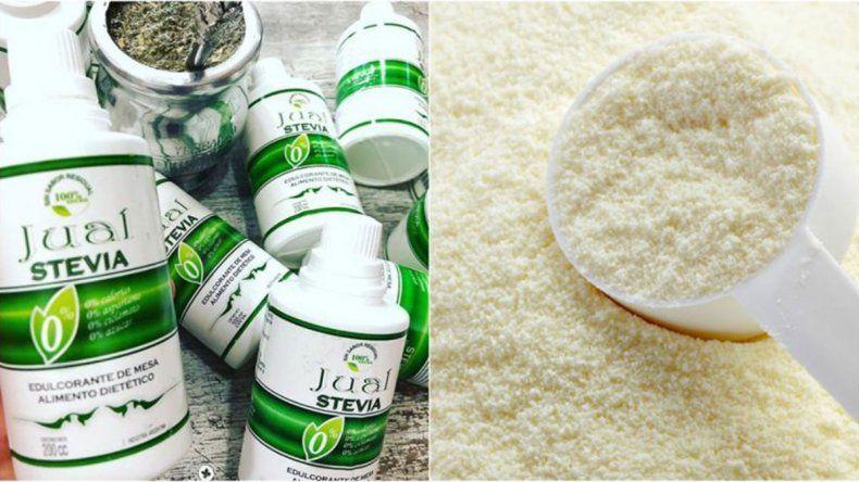 La ANMAT prohibió el uso y venta de una leche en polvo y un endulzante natural