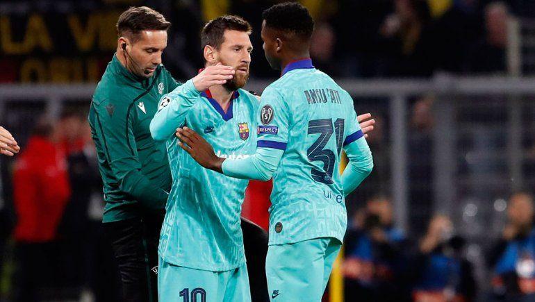 Messi volvió a jugar y el Barça empató por la Champions