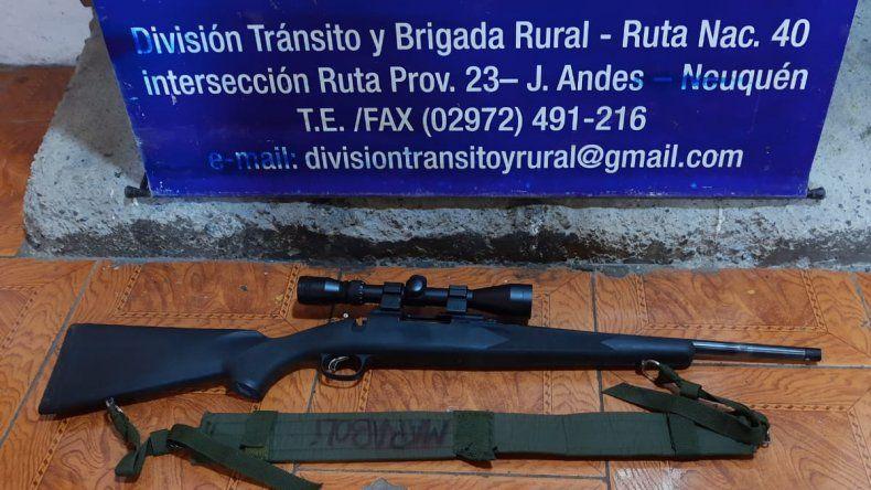 Detuvieron a un empleado municipal por caza furtiva en Junín de los Andes