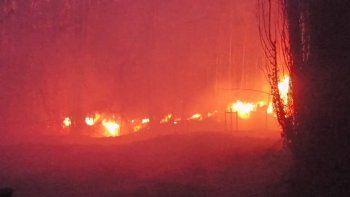 bomberos apagaron un incendio de 20 hectareas en vista alegre