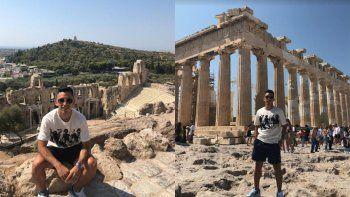 el neuquino joaco torres: nunca imagine conocer las ruinas griegas, el futbol me trajo aca