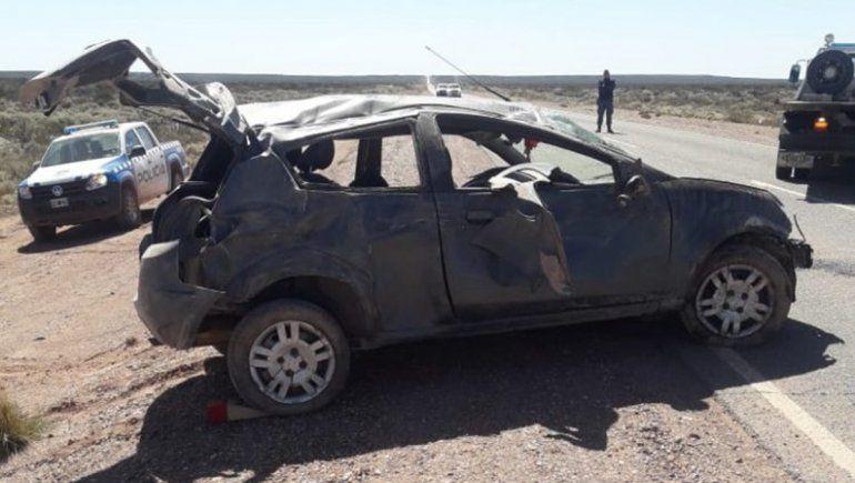 Ruta 17: una mujer volcó y terminó en el hospital