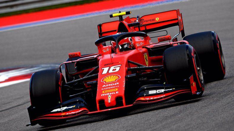 Cuarta pole position consecutiva para Leclerc en la Fórmula 1