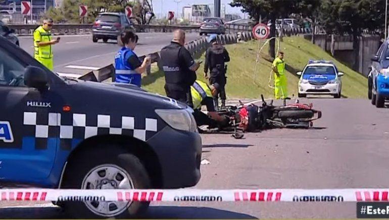 Un choque de motos en plena Panamericana dejó dos muertos
