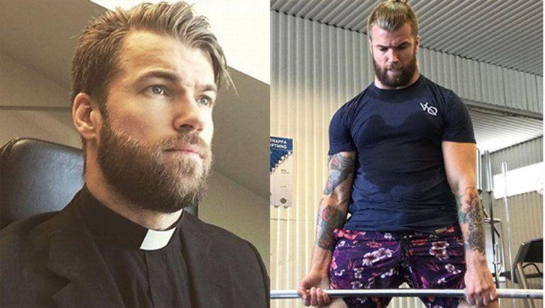 ¡Tiembla Chris Hemsworth! Conocé al cura idéntico a Thor que la rompe con sus rutinas crossfit