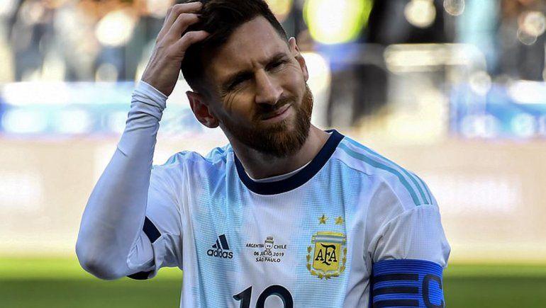Conmebol se negó a reducirle la sanción de 3 meses a Messi