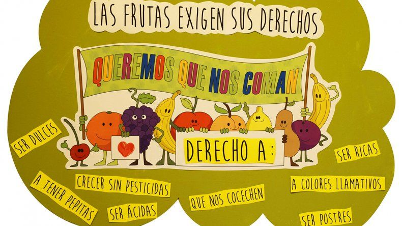 Comer frutas, objetivo de un concurso que conquistó a muchos estudiantes neuquinos