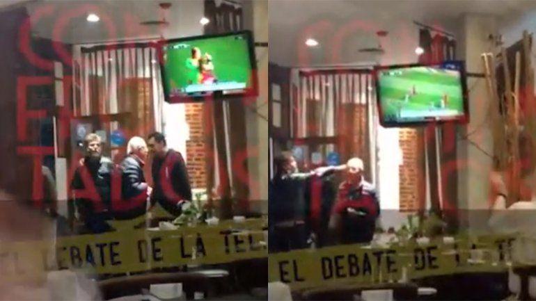 Video: Casero fue echado de un bar por macrista y se peleó con el dueño