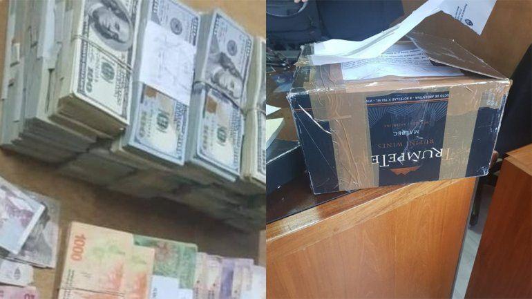 La internaron y descubrieron que tenía 600 mil dólares en una caja de vino