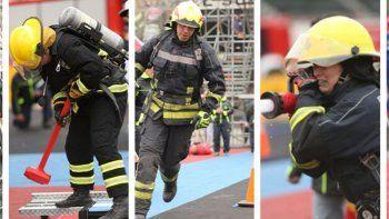 tres bomberos viajan a competir  en las olimpiadas