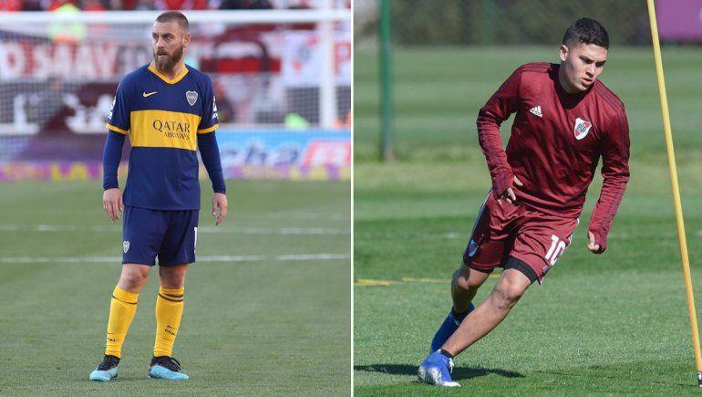 Juanfer vuelve en River y De Rossi lesionado en Boca