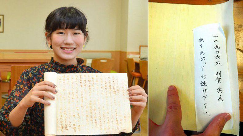 Japonesa imitó a los ninjas y escribió con tinta invisible
