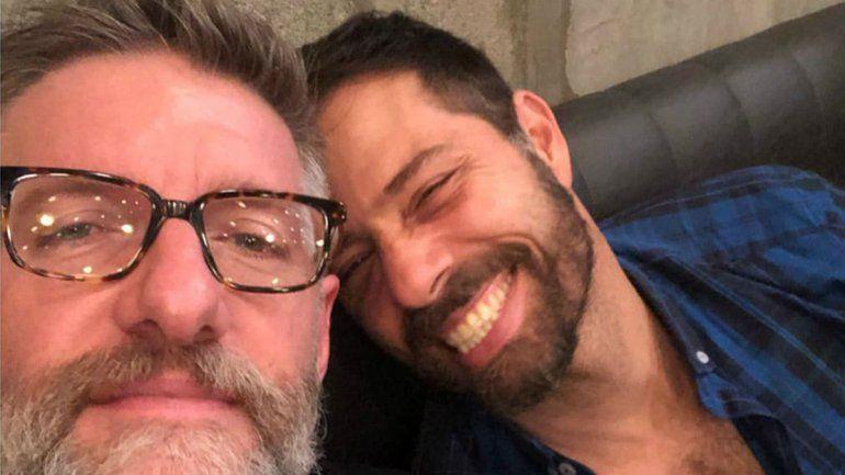 La romántica foto de Luis Novaresio y su novio Braulio
