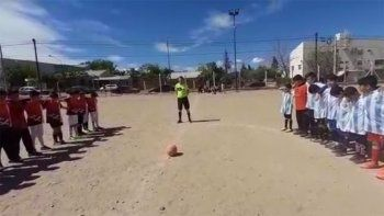 melipal: disparo 10 tiros al aire en un partido de futbol infantil