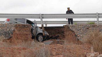 ¿que provoco el hundimiento del asfalto en ruta 7?