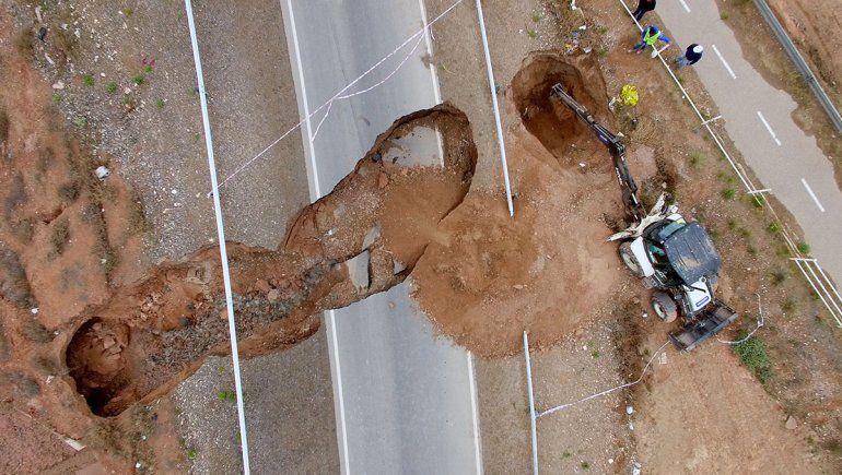 Cuenta regresiva: la reparación del cráter de la Ruta 7 arrancará mañana y prometen terminarla en 10 días