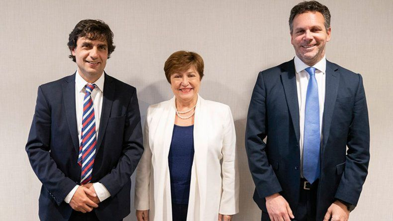 Lacunza y Sandleris se reunieron con la jefa del FMI