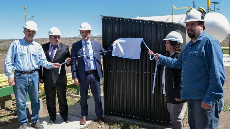 Loncopué celebró con una nueva planta de gas