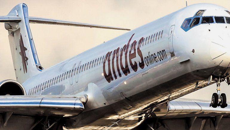 La empresa Andes Líneas Aéreas suspendió los vuelos a Bariloche