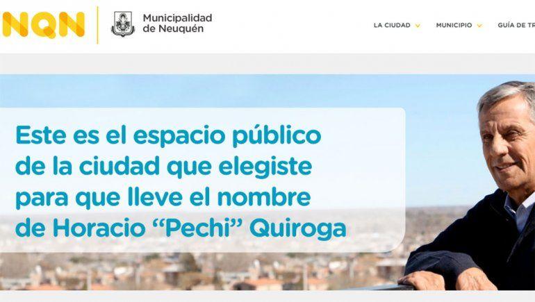 Los neuquinos eligieron qué lugar de la ciudad llevará el nombre de Horacio Pechi Quiroga
