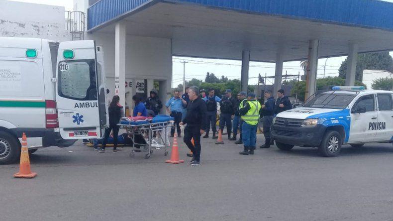 Cutral Co: una mujer resultó herida tras un disturbio en una estación de servicio