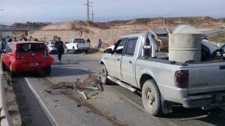 Cañadón de las Cabras: accidente en cadena dejó 7 autos con daños materiales