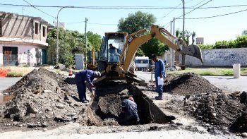 cortan calles del barrio belgrano por una obra pluvial