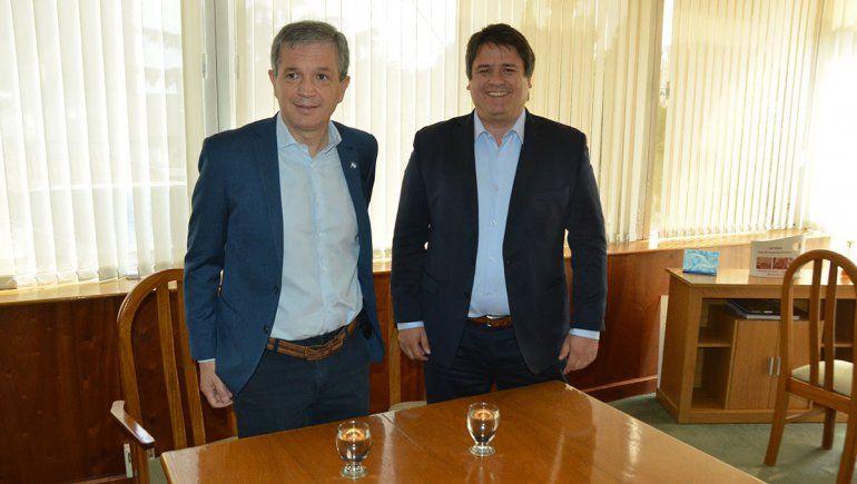 Con elogios mutuos, Gaido y Monzani hablaron de la transición